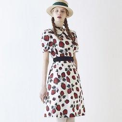 Q-pot. Strawberry Field Puffy Sleeve Dress