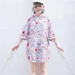 ACDC RAG Cake Short Sleeve Hoodie Dress