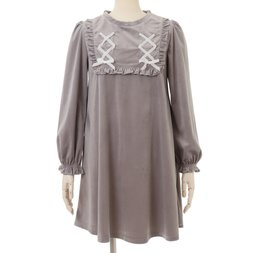 LIZ LISA Velour Lace-Up Dress