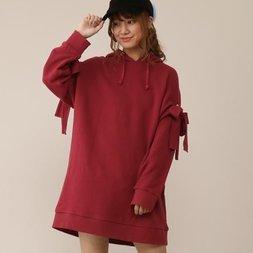 Honey Salon Shoulder Slit Hoodie Dress