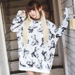 ACDC RAG Teddy Bear Hoodie Dress