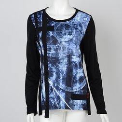 Ozz Conte Grunge Print Long Sleeve Shirt