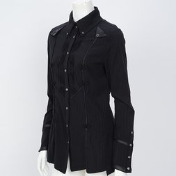Ozz Oneste Chinese-Style Button Blouse