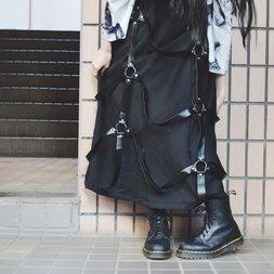 ACDC RAG Long Harness Skirt