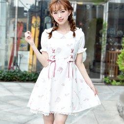 LIZ LISA Romantic Shoes Pattern Dress