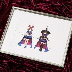 Terra Battle Character Art Yukken & Rikken Lithograph w/ Frame