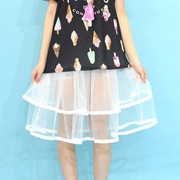 ACDC RAG See-through Tulle Skirt