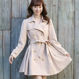 LIZ LISA Bijou Button Trench Coat