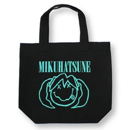 Hatsune Miku Smile Black Tote Bag