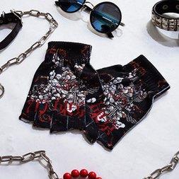 ACDC RAG Punk Samurai Fingerless Gloves