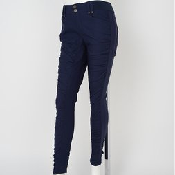 Ozz Oneste Rose Embroidered Gathered Skinny Pants