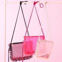 Honey Salon Sequin Tulle Sacoche Bag