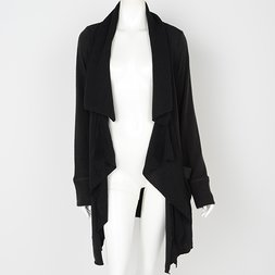 Rozen Kavalier Ribbed Long Cardigan