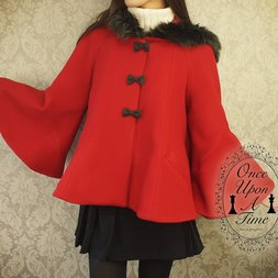 NO.S PROJECT Little Red Riding Hood Flared Coat