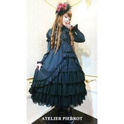 Atelier Pierrot Frilly Shirred Long Dress