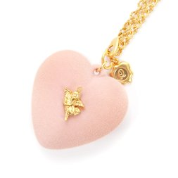 Q-pot. x Q-pid. Melty Heart Pink Necklace
