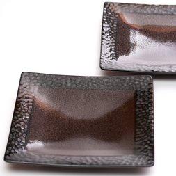 Mino Ware Leopard Square Plate Set