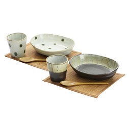 Soyo Mino Ware Cup & Curry Bowl Set