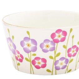 Wamon Mino Ware Japanese Morning Glory Soup Cup