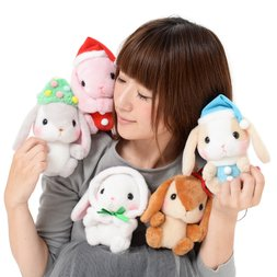 Pote Usa Loppy Merry Christmas Rabbit Plush Collection (Standard)