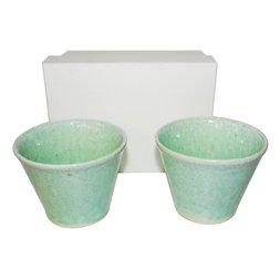 Mino Ware Green Cup Set