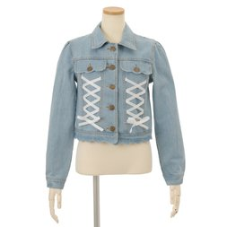 LIZ LISA Scalloped Denim Jacket