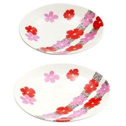 Hana Tsunagi Wamon Mino Ware Small Plates