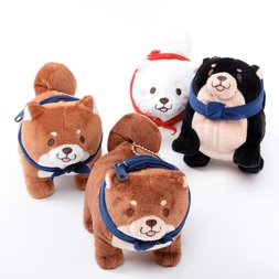 Chuken Mochi Shiba Messenger Plush Collection (Ball Chain)