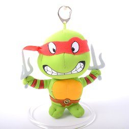 Teenage Mutant Ninja Turtles 5.5 Raphael Keychain Plush""