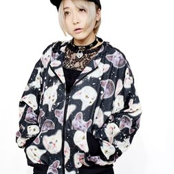 ACDC RAG Cat Oversized Fit Zippered Hoodie