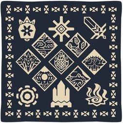 Monster Hunter XX Ethnic Pattern Cushion: Wycademy & the 4 Villages