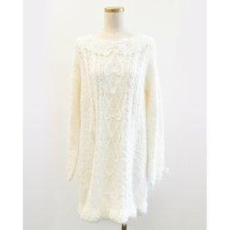 LIZ LISA Tulle Collar Feather Knight Dress