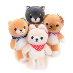 Mameshiba San Kyodai Sitting Dog Plush Collection (Ball Chain)