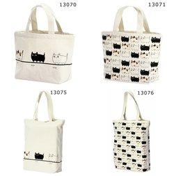 Three Cat Siblings Tote Bags