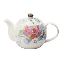 Hana Kotoba Mino Ware Rose Teapot