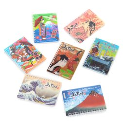 Souvenir Japan 3D Spiral Notebooks