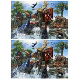 Tyrannosaurus vs Mosasaurus Jigsaw Puzzle