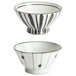 Elegant Mino Ware Rice Bowls