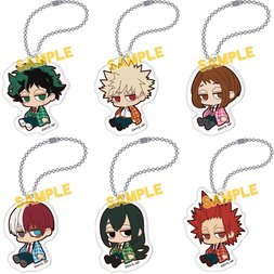 Yurutto Darun My Hero Academia Warm Hanten Acrylic Keychain Collection Box Set
