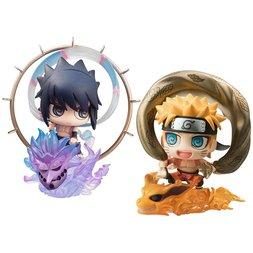 Petit Chara! Naruto Shippuden Fujin Raijin Figure w/ Illustration Sheet