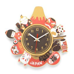 Souvenir Japan 2-Layer Wood Clock