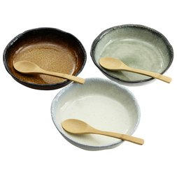 Elegant Mino Ware Curry Trio Gift Set