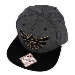Legend of Zelda Gray & Black Snapback