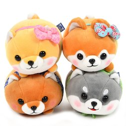 Tsumeru! Mochikko Mameshiba San Kyodai Vol. 2 Dog Plush Collection (Jumbo)