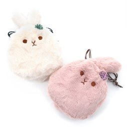 Faux Fur Drawstring Pouches