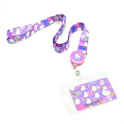 Hello Kitty Lavender Tone Key Leash ID Badge Reel