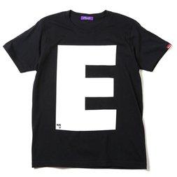 RADIO EVA 410 NERV Letter E Black T-Shirt