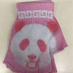 ACDC RAG Pink Panda Fingerless Gloves