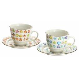 Hana Botan Mino Ware Coffee Cup Set