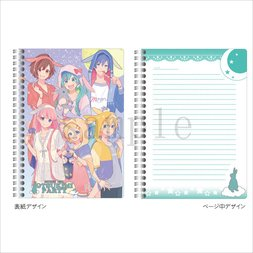 Hatsune Miku Otsukimi Party Double Ring Notebook